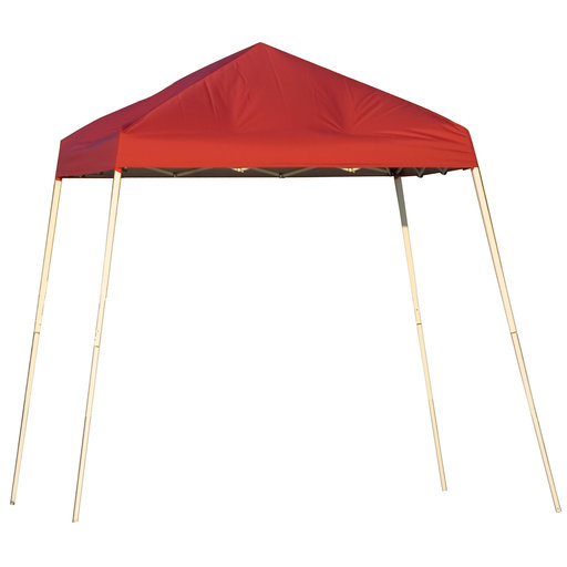 View a Larger Image of 8 ft. x 8 ft. Sport Pop-up Canopy Slant Leg, Red Cover