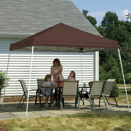 View a Larger Image of 8 ft. x 8 ft. Sport Pop-up Canopy Slant Leg, White Cover