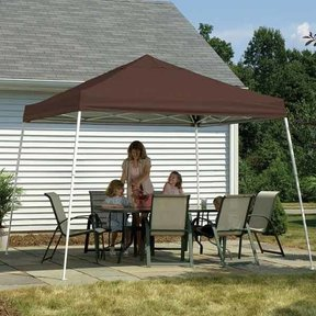 8 ft. x 8 ft. Sport Pop-up Canopy Slant Leg, White Cover