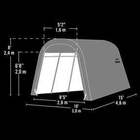 Auto Shelter 10' x 15' x 8' RoundTop Instant Garage, Sandstone