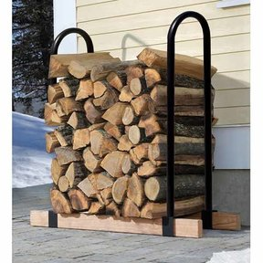 Firewood Lumber Rack, Adjustable Brackets