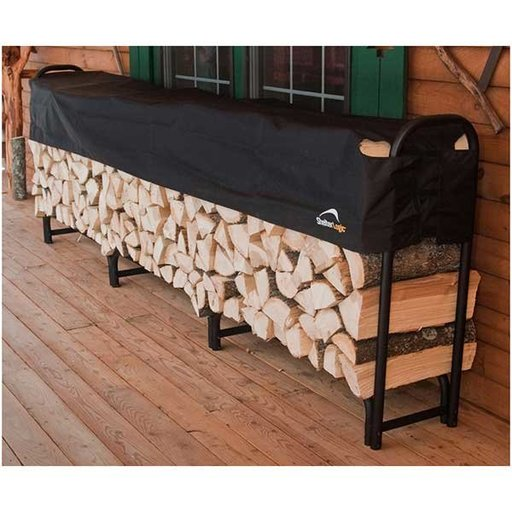 View a Larger Image of Firewood Rack-in-a-Box Heavy Duty with Cover, 12'