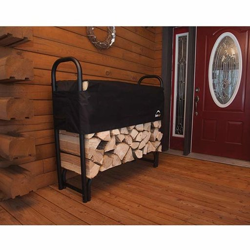 View a Larger Image of Firewood Rack-in-a-Box Heavy Duty with Cover, 4'