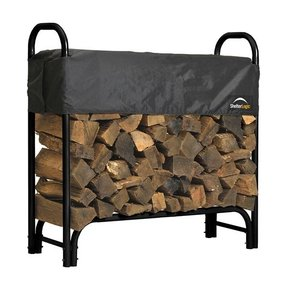 Firewood Rack-in-a-Box Heavy Duty with Cover, 4'