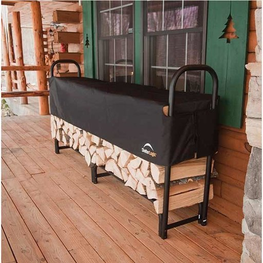 View a Larger Image of Firewood Rack-in-a-Box Heavy Duty with Cover, 8'