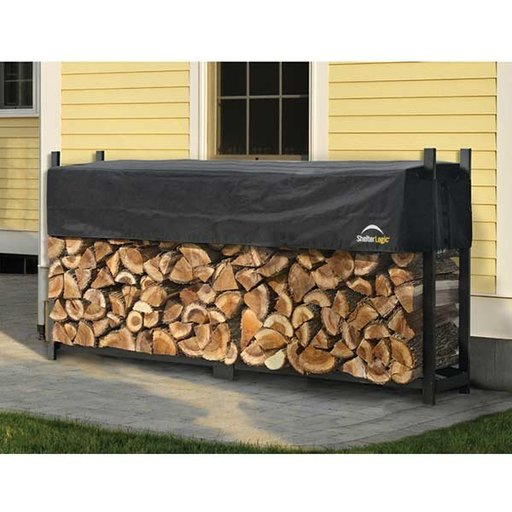 View a Larger Image of Firewood Rack-in-a-Box Ultra Heavy Duty with Cover, 8'