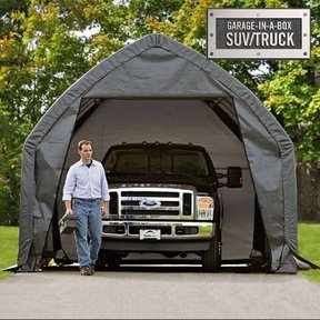 Garage-in-a-Box 13' x 20' x 12', Peak Style for SUV/Truck, Gray