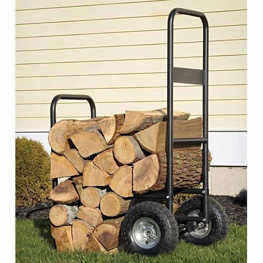 View a Larger Image of Haul-It Wood Mover Rolling Firewood Cart