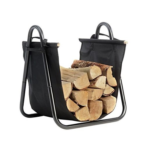 View a Larger Image of Log Holder with Canvas Carrier