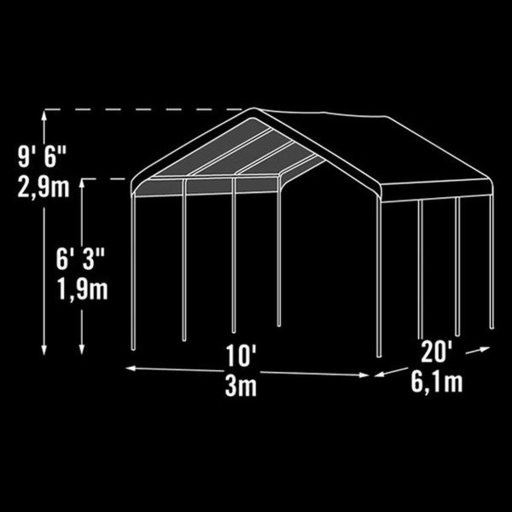View a Larger Image of Max AP 10' x 20' 2-in-1 Canopy, White