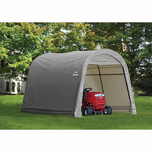 View a Larger Image of Shed-in-a-Box 10' x 10' x 8', RoundTop Style, Gray