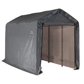 Shed-in-a-Box 6' x 12' x 8', Peak Style, Gray