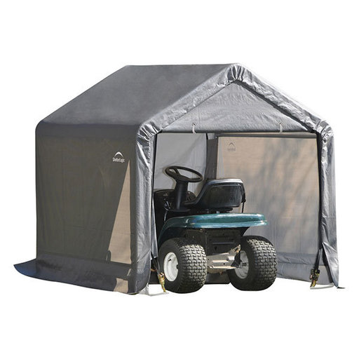 View a Larger Image of Shed-in-a-Box 6' x 6' x 6', Peak Style, Gray