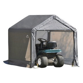 Shed-in-a-Box 6' x 6' x 6', Peak Style, Gray