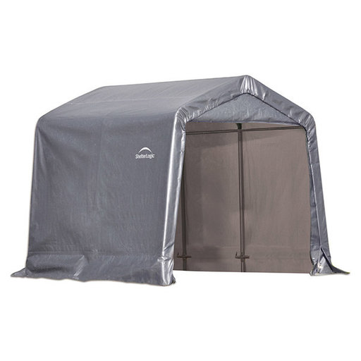 View a Larger Image of Shed-in-a-Box 8' x 8' x 8', Peak Style, Gray