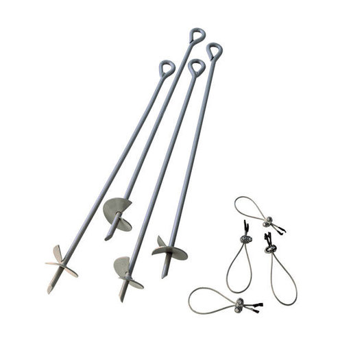 View a Larger Image of ShelterAuger Earth Anchors 30 in. - 4 Piece Set