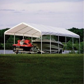 Super Max 12 ft. x 30 ft. White Premium Canopy Replacement Cover, Fits 2 in. Frame