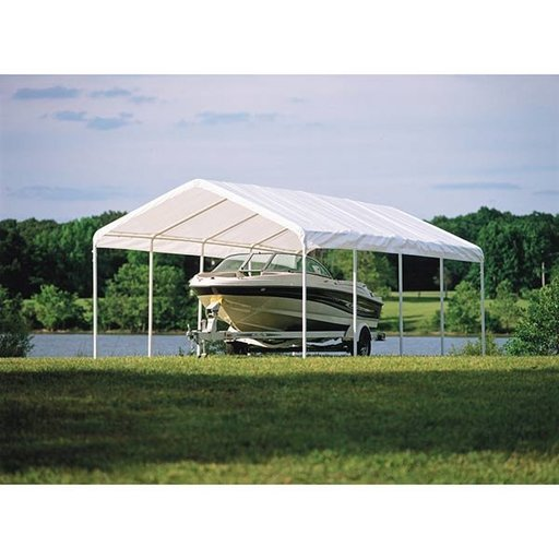 View a Larger Image of Super Max 12' x 26', 5-Rib Canopy, White