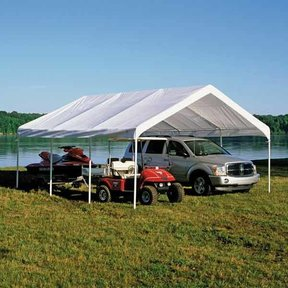 Super Max 18 ft. x 20 ft. Premium Canopy Replacement Cover, Fits 2 in. Frame White