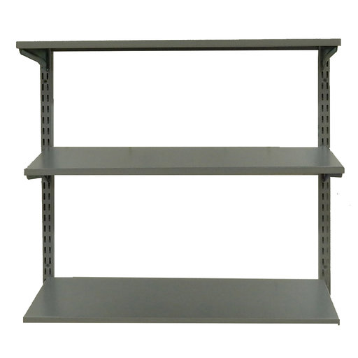 "View a Larger Image of Shelving Unit, 33"" Wall Mount with 3 steel Shelves"
