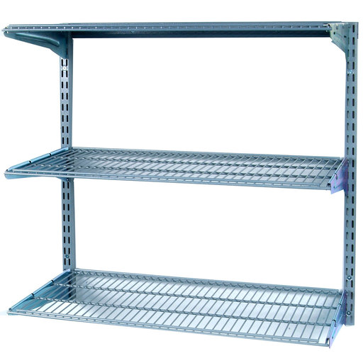 "View a Larger Image of Shelving Unit, 33"" Wall Mount with 3 wire Shelves"