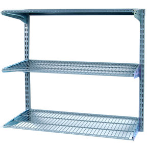 "Shelving Unit, 33"" Wall Mount with 3 wire Shelves"