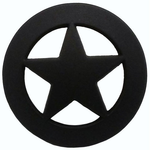 View a Larger Image of Sheriff Star Knob, Oil Rubbed Bronze