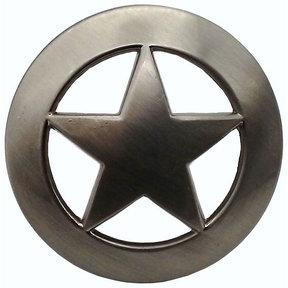 Sheriff Star Knob, Satin Nickel