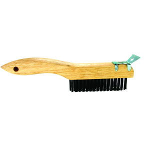 "Shoe Handle Wire Brush 10"" with Scraper"