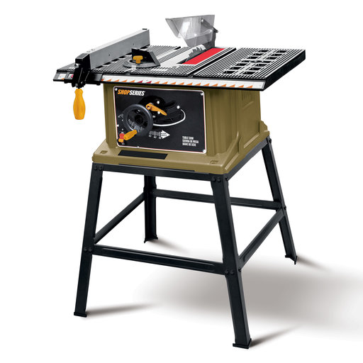 "View a Larger Image of Shop Series 10"" Table Saw with Leg Stand 15 A"