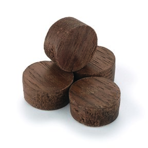 "Side Grain Screw Hole Plugs 1/2"" Walnut 15-piece"