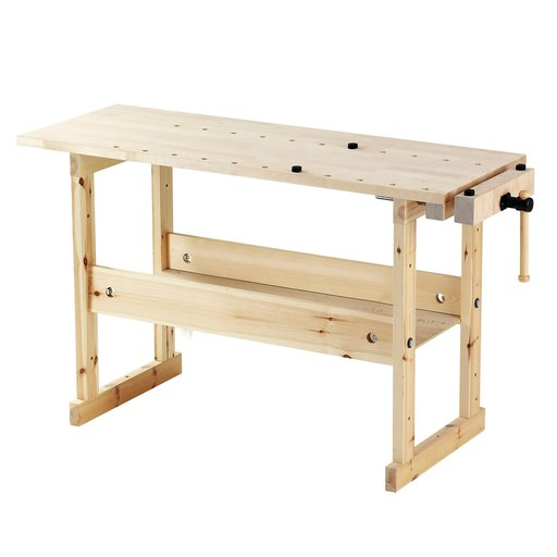 View a Larger Image of Sjoberg Hobby Bench Birch Top