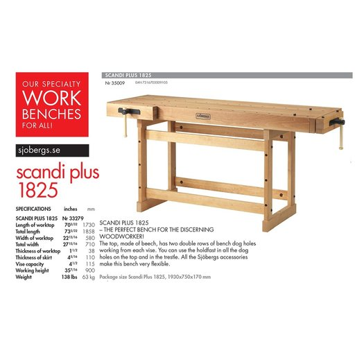 View a Larger Image of Scandi Plus 1825 Workbench