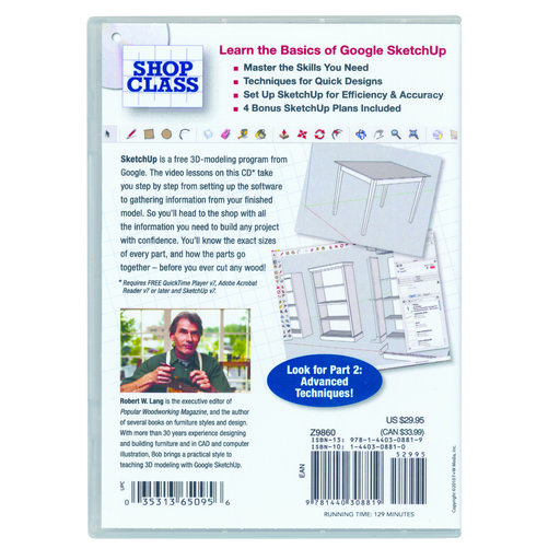 View a Larger Image of SketchUp for Woodworkers DVD Part 1 Getting Started