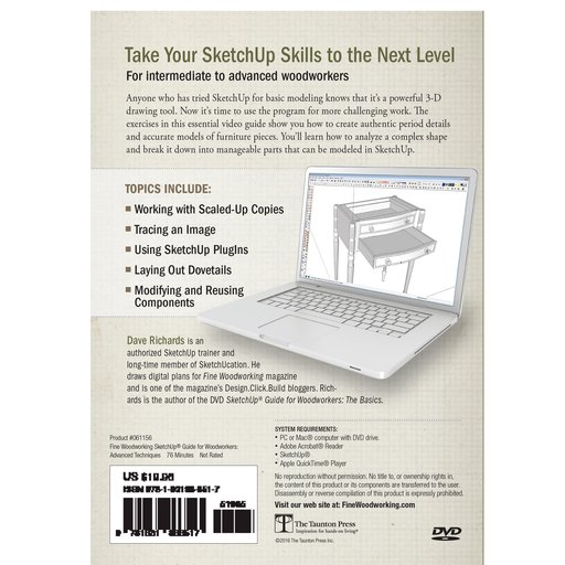 View a Larger Image of Sketchup Guide for Woodworkers: Advanced Techniques DVD