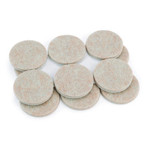 1-1/2 inch Round Heavy Duty Self-Stick Felt Pads, 12 piece