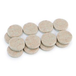 1 inch Round Heavy Duty Self-Stick Felt Pads, 16 piece