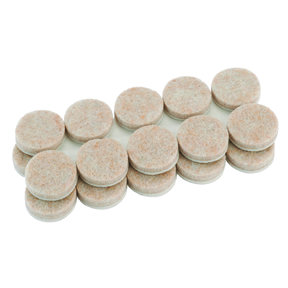 3/4 inch Round Heavy Duty Self-Stick Felt Pads, 20 pack