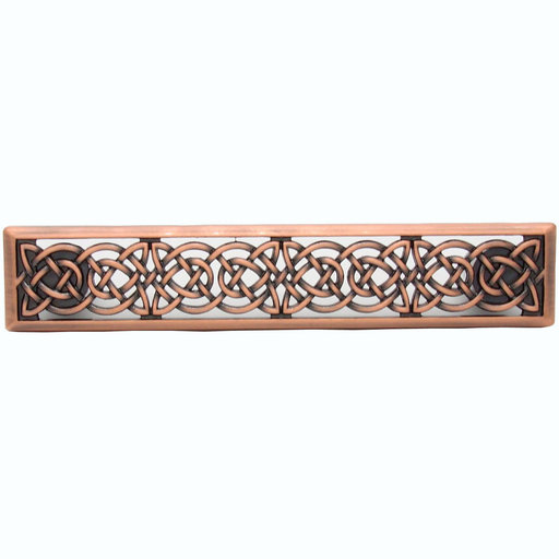 View a Larger Image of Small Celtic Style Pull, Satin Copper Oxide