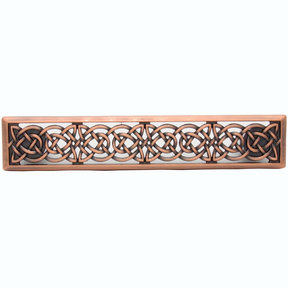 Small Celtic Style Pull, Satin Copper Oxide