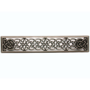 Small Celtic Style Pull, Satin Nickel Oxide