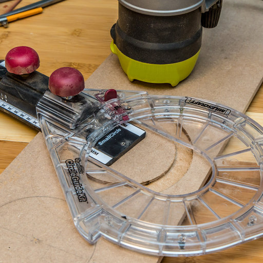 View a Larger Image of Small Circle Compass Router Jig