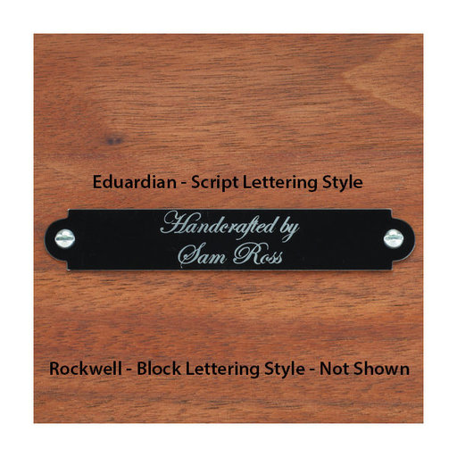 View a Larger Image of Small Laser Engravable Name Plate Black with Silver Lettering