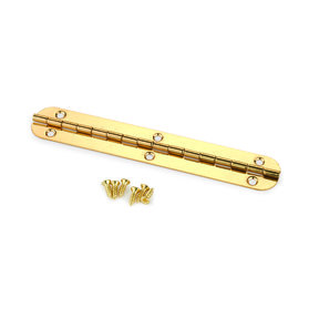 Small Piano Hinge Brass Plated 102mm x 17mm