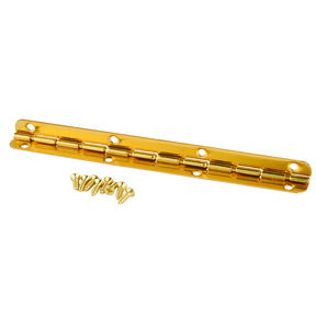 Small Piano Stop Hinge Brass Plated 115mm x 9mm