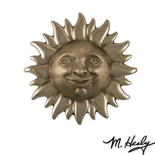 View a Larger Image of Smiling Sunface Door Knocker, Brushed and Polished Nickel Silver