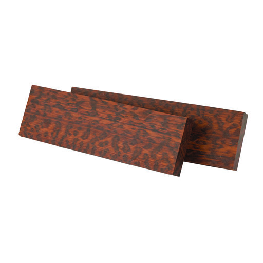 """View a Larger Image of Snakewood 3/8"""" x 1-1/2"""" x 5"""" Wood Knife Scale 2 pc"""
