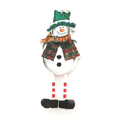 View a Larger Image of Snowman on Legs  Woodworking Pattern and Picture