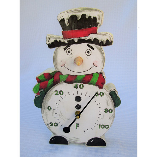 View a Larger Image of Snowman Thermometer Base Woodworking Pattern and Picture