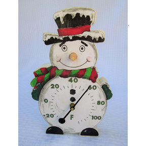 Snowman Thermometer Base Woodworking Pattern and Picture